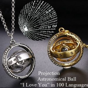 Collapsing Astronomical Ball w/NanoScript Necklace